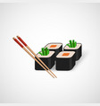 sushi icon and chopsticks vector image