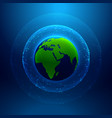 technology style background with earth and vector image