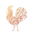 Golden Rooster symbol 2017 vector image