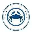 crab delicious seafood menu icon vector image