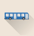 flat style bus icon vector image