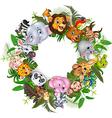 Cartoon safari animals vector image