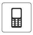 Phone mobile icon retro 1 vector image