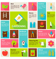 Flat Design Icons Infographic Spring Gardening vector image