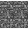 Dark e-learning seamless pattern vector image