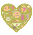 Garden heart vector image
