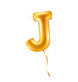 letter j balloon realistic style vector image