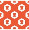 Orange hexagon chef hat pattern vector image