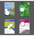 Set of presentation of business poster vector image