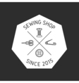 Sewing badge emblem vector image