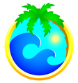 Tourism and holidays icon vector image