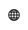 World globe Icon Flat vector image