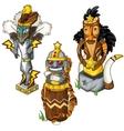 Wolf tiger and eagle Indian totem masks vector image