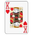 Jumbo index king of hearts vector image vector image