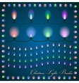 abstract of colorful lights on blue background vector image