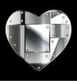 Steel heart vector image