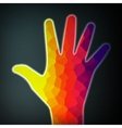 Abstract colorful hand vector image