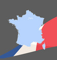 beautiful flag of france vector image