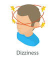 dizziness icon isometric style vector image