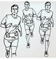 Male runner sketch vector image