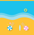 sea sunny beach rest at the resort vector image