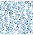 watercolor blue flora vector image