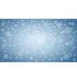 Background of falling snowflakes vector image vector image