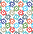 Gear wheels seamless pattern vector image