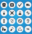 set of 16 editable clinic icons includes symbols vector image
