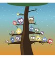 birds on a tree vector image vector image