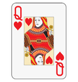 Jumbo index queen of hearts vector image vector image
