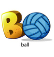 A letter B for ball vector image