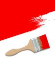 paint brush vector image