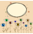 abstract eyes background vector image vector image