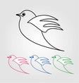 Dove- the symbol of peace vector image vector image