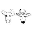 Artistic cow vector image vector image