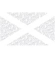 Scotland Text Flag vector image