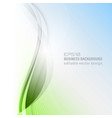 abstract wavy business background vector image