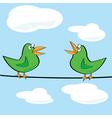 birds chirping vector image