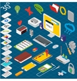 Flat 3d isometric workspace vector image