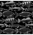 Graphic freshwater fish pattern vector image