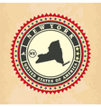Vintage label-sticker cards of New York vector image