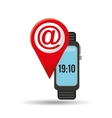 wearable technology mail design vector image