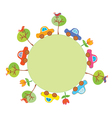 Frame with cars for kids vector image vector image