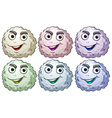 Six smiling heads vector image
