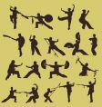 wushu Chinese martial art vector image vector image