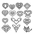 heart set 1 vector image vector image