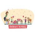 birthday celebration composition vector image