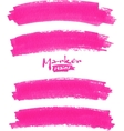 Bright pink marker stains set vector image