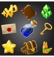 Cartoon icons collection for 2d games vector image